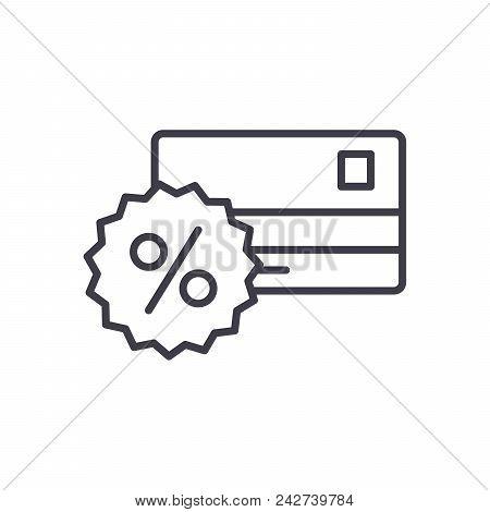 Bank commission black icon concept. Bank commission flat  vector website sign, symbol, illustration. stock photo