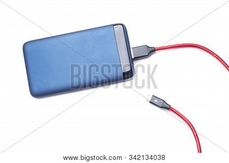 a large capacity powerbank, to be able to charge any device anywhere stock photo