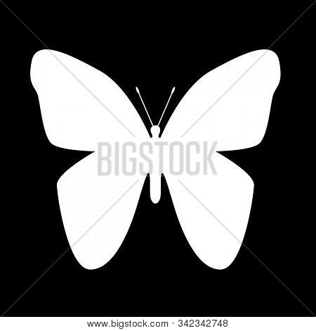 Butterfly shape. Black and white. 3D rendering stock photo