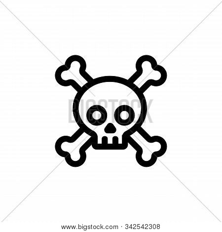 poisonous substances icon vector. A thin line sign. Isolated contour symbol illustration stock photo