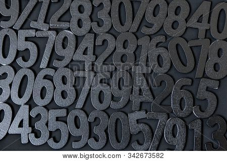 Background of numbers. from zero to nine. Background with numbers. Numbers texture stock photo