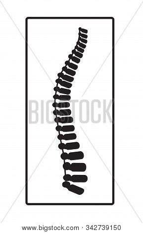 Arthritis icon. Osteopath practice. Osteoporosis sign, osteoarthritis anatomical vector. Spine pain, intervertebral hernia are shown on the white background. It is for landing page, web, app. stock photo