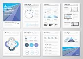 Data representation pamphlets and infographic business formats