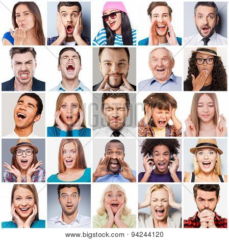 Diverse People With Different Emotions.