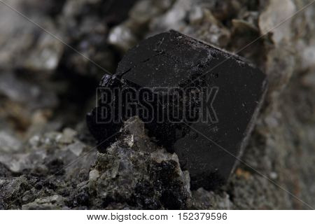 schorl mineral texture as nice natural background stock photo