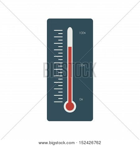Thermometer icon, Thermometer in a flat style stock photo