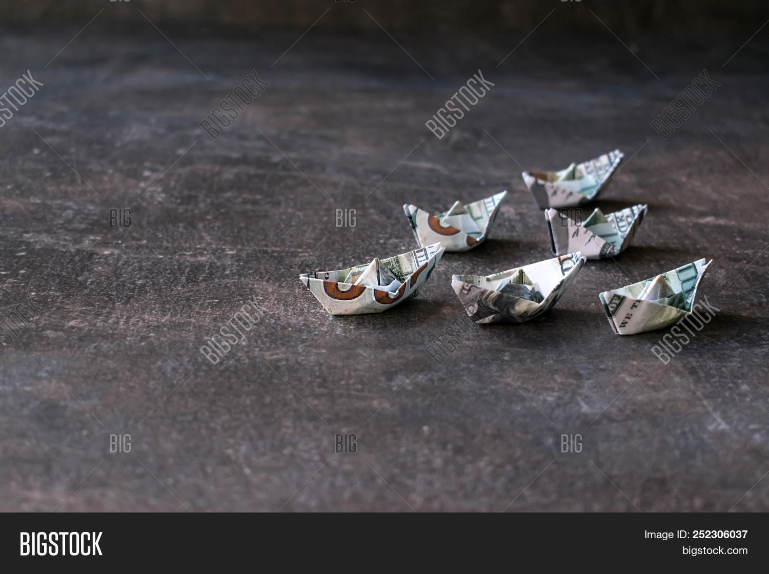 One Dollar Bill Origami Boat Shape Stock Photo (Edit Now) 1201267813 | 1120x1500