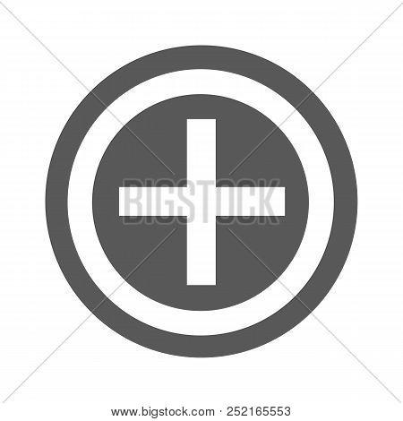 Plus icon.  simple illustration of plus icon isolated on white background stock photo