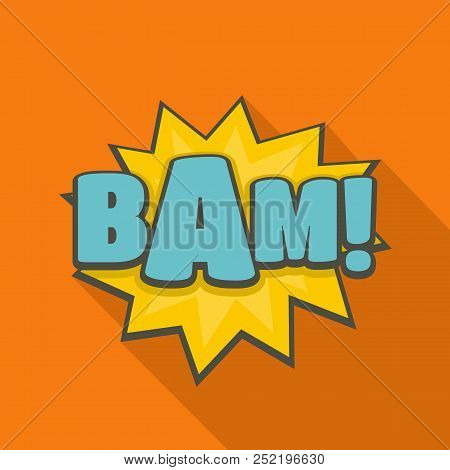 Comic boom bam icon. Flat illustration of comic boom bam  icon for web stock photo