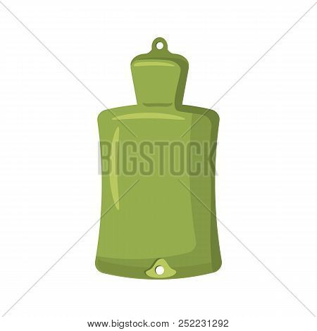 Green rubber warmer icon in cartoon style on a white background stock photo
