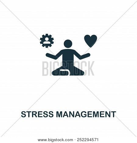 Stress Management creative icon. Simple element illustration. Stress Management concept symbol design from soft skills collection. Perfect for web design, apps, software, print. stock photo