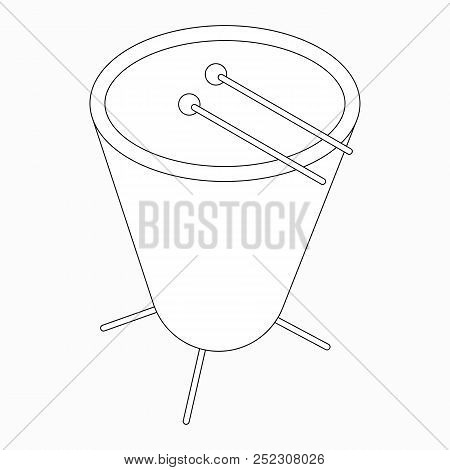 Timpani drum icon in isometric 3d style isolated on white background stock photo