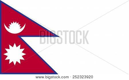 Nepal flag image for any design in simple style stock photo