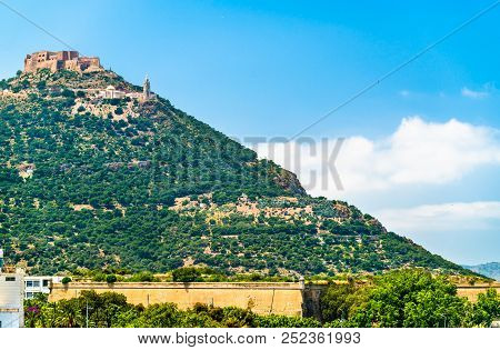 View of Fort Santa Cruz in Oran, Algeria stock photo