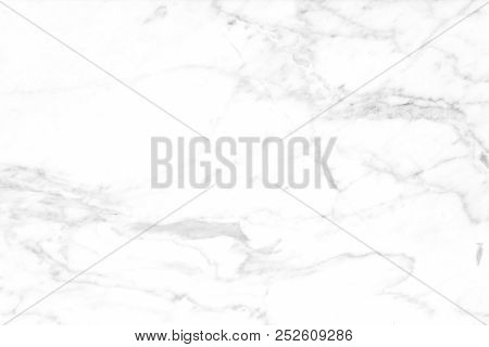 Marble Texture On White Marbled Tile, Closeup Photo On Marbled Tile Surface On Marbled Floor Show Ma