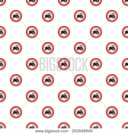 No tractor pattern seamless in flat style for any design stock photo