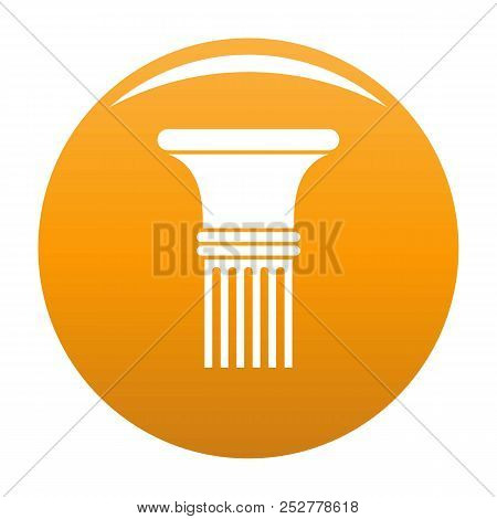 Fluted column icon. Simple illustration of fluted column icon for any design orange stock photo