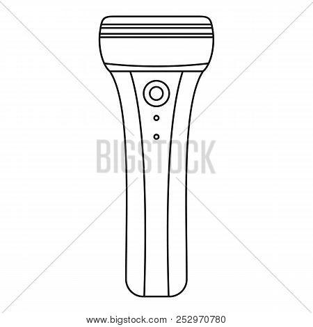 Electric razor icon. Outline illustration of electric razor icon for web design isolated on white background stock photo