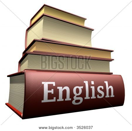 some pile of old language education books czech stock photo