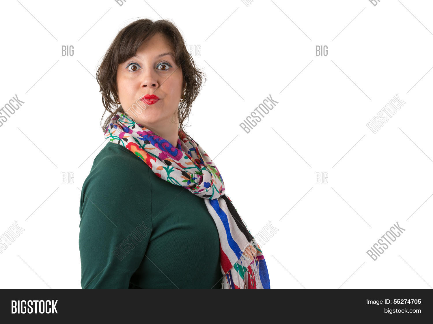 Women with big eyes looking at you angrily perhaps she annoyed with your actions and higher authority than you have
