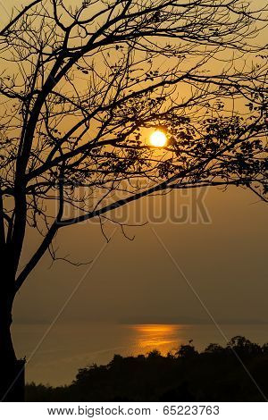 The sunset silhouette