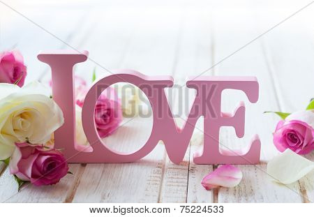 Valentine\'s day concept with letters \