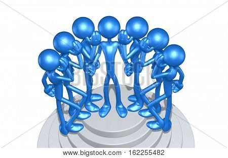 The Original 3D Character Illustration With Hearsay Rumors  stock photo