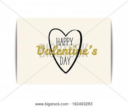Typographic Valentine card with love symbol. \