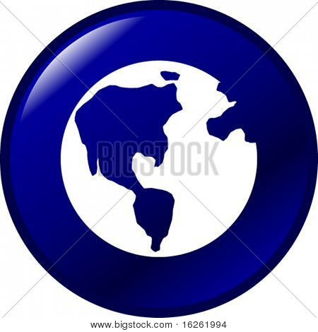 earth button stock photo