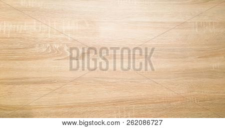 wood texture background, light weathered rustic oak. faded wooden varnished paint showing woodgrain texture. hardwood washed planks background pattern table top view. stock photo
