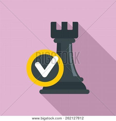 Logic decision icon. Flat illustration of logic decision vector icon for web design stock photo