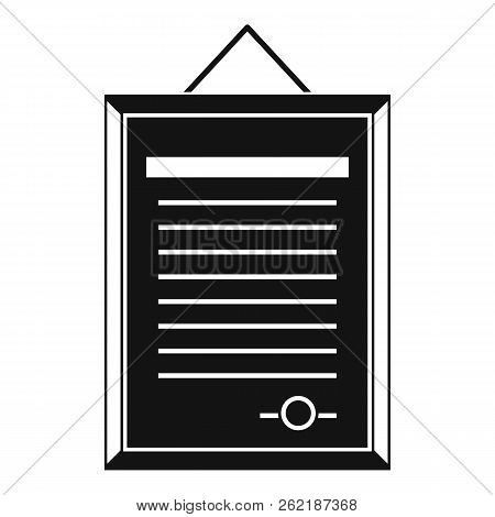Sertificate icon. Simple illustration of certificate icon for web stock photo