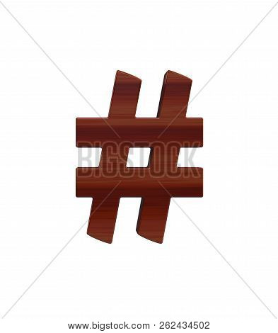 3D rendering Font polished rosewood Germania front special character ALT35 stock photo