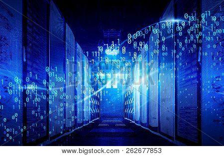 Visualization Of Big Data Digital Data Streams In The Data Center. The Concept Of Big Data Informati