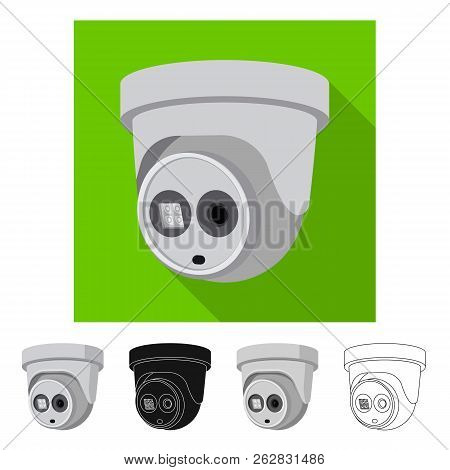 Isolated object of cctv and camera symbol. Collection of cctv and system vector icon for stock. stock photo