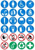 Vector set of different international communication signs. All vector objects and details are isola