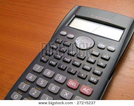 modern scientific calculator stock photo