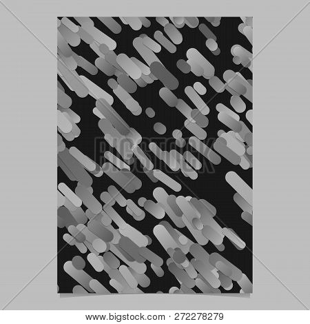 Gery trendy abstract gradient diagonal rounded stripe pattern poster background stock photo