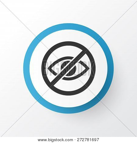 Lower your eyes icon symbol. Premium quality isolated prohibited element in trendy style. stock photo