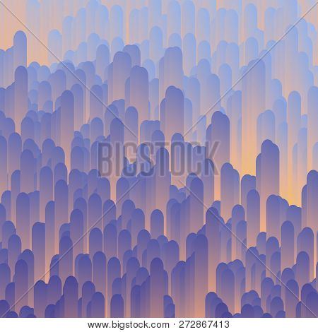 Data distortion background. Vector abstract glitch effect. Modern and trendy generative illustration. Broken data concept. stock photo