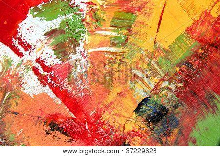 Oeuvre d'art abstrait