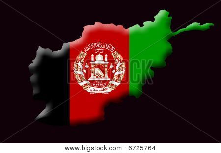 Illustration of Islamic Republic Of Afghanistan created with a high attention to detail. stock photo