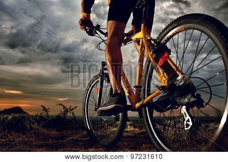 Mountain Bike cyclist riding outdoor
