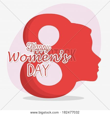 8 march women day eight, vector illustration design stock photo