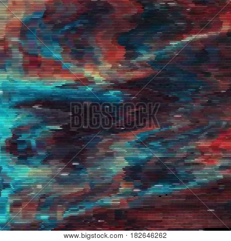 Vector glitch background. Digital image data distortion. Colorful abstract background for your designs. Chaos aesthetics of signal error. Digital decay. stock photo