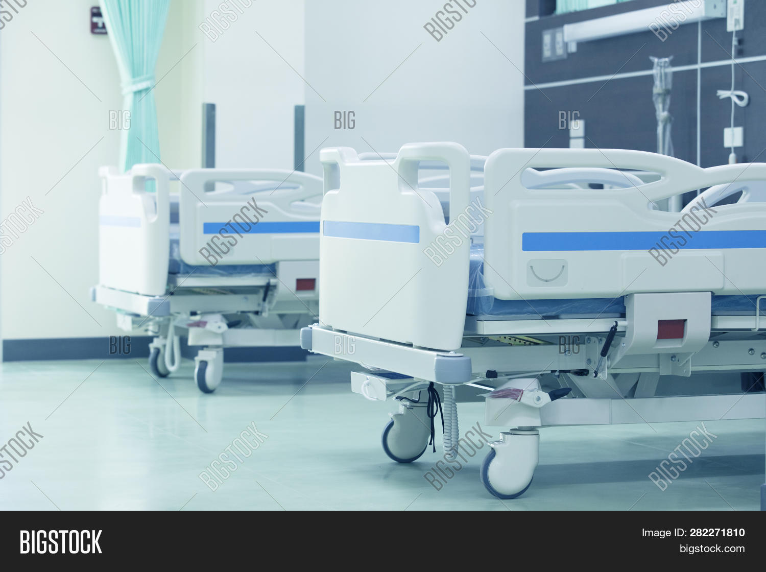 Clean Empty Bed In A Hospital ,patient Bed In Hospital,empty Hospital Bed