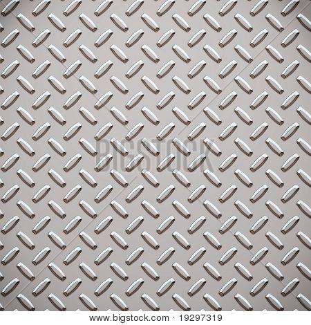 a large seamless sheet of alluminium or nickel diamond or tread plate stock photo