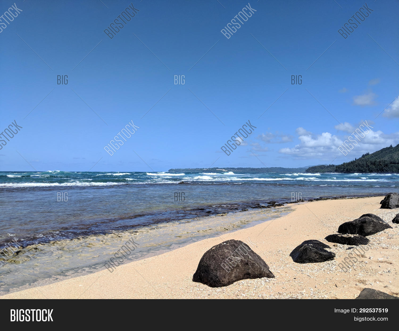 Wainiha Bay Park On Kauai, Hawaii.  Wainiha Bay In Kauai Is The Last Bay After The Town Of Hanalei A