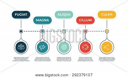 Inbound Marketing Icons Banner. Action Audience Influence, Marketing Strategy Instruments And Web Si
