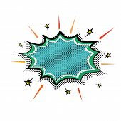 Explosion Steam Bubble Pop-art Vector - Funny Funky Banner